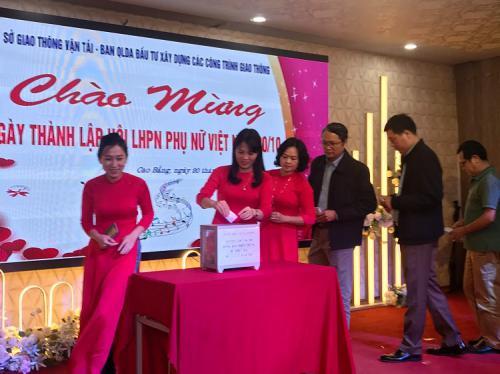 Công đoàn Sở Giao thông vận tải và Công đoàn Ban quản lý ĐTXD các công trình giao thông tỉnh tổ chức giao lưu Nhân kỷ niệm 90 năm thành lập Hội LHPN Việt Nam (1930-2020).