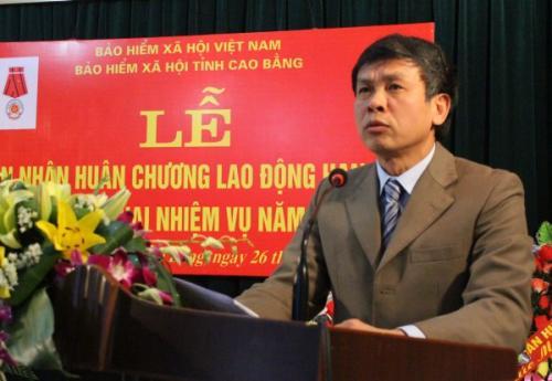 BHXH tỉnh Đón nhận Huân chương Lao động hạng ba