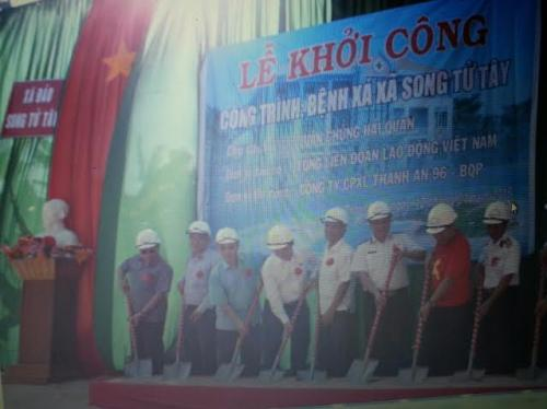 Tổng LĐLĐ Việt Nam Khởi công xây dựng Bệnh xá đảo Song Tử Tây