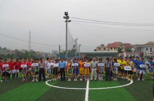 Khai mạc Giải Bóng đá mini Công đoàn Viên chức tỉnh lần thứ II