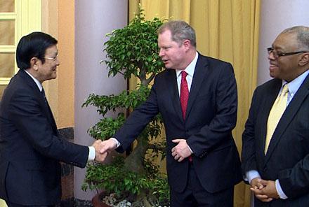 Chủ tịch nước ủng hộ doanh nghiệp Hoa Kỳ hợp tác dầu khí với Việt Nam