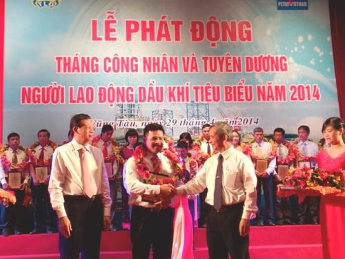 CĐ Dầu khí Việt Nam - Tuyên dương 72 công nhân tiêu biểu năm 2014
