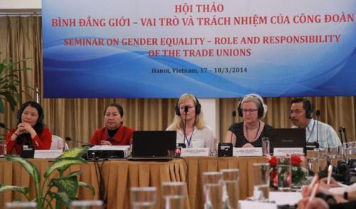 """Hội thảo quốc tế """"Bình đẳng giới - vai trò và trách nhiệm của công đoàn"""""""