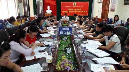 Hội nghị trực tuyến công tác nữ công năm 2016