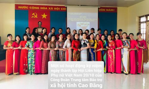 Công đoàn cơ sở Trung tâm Bảo trợ xã hội đã tổ chức kỷ niệm 89 năm ngày thành lập hội liên hiệp phụ nữ việt Nam, 9 năm ngày Phụ nữ Việt Nam.