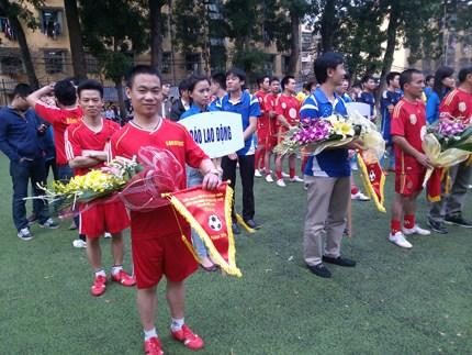 Khai mạc Giải bóng đá Đoàn Thanh niên Tổng LĐLĐVN lần thứ nhất