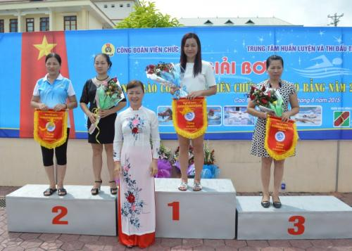 58 VĐV tham gia Giải Bơi phong trào Công đoàn Viên chức tỉnh năm 2015