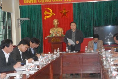Chủ tịch UBND tỉnh Nguyễn Hoàng Anh kiểm tra các dự án đầu tư tại KKT cửa khẩu Tà Lùng