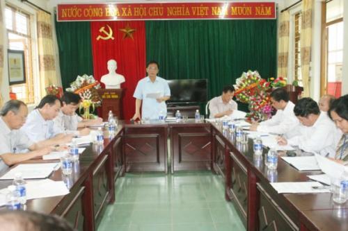 Phó Bí thư Tỉnh ủy Đinh Quế Hải làm việc tại xã Mỹ Hưng (Phục Hòa)