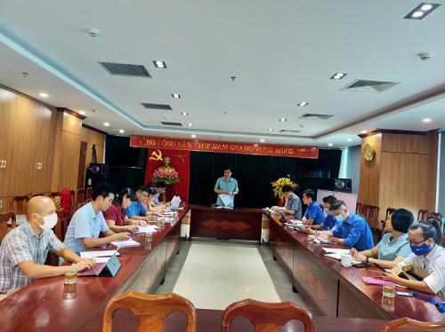 Hội nghị giao ban giữa Ban Thường vụ Đảng ủy Khối cơ quan và doanh nghiệp  với các Đoàn thể trực thuộc.