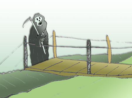 Treo mạng người dân trên những chiếc cầu treo