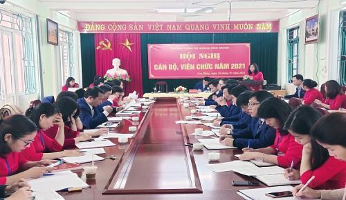 CĐCS Trường Chính trị Hoàng Đình Giong Hội nghị cán bộ công chức, viên chức năm 2020