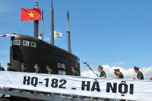 Lễ thượng cờ hai tàu ngầm đầu tiên của Việt Nam