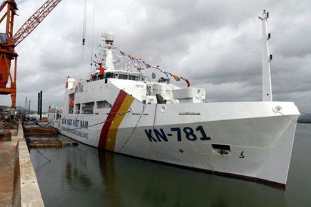 Hình ảnh về con tàu Kiểm ngư hiện đại nhất Việt Nam