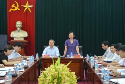Phó Trưởng Ban Dân vận Trung ương làm việc với Tỉnh ủy