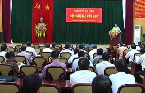 Thành ủy Cao Bằng Tuyên truyền về tình hình biển Đông cho gần 300 cán bộ
