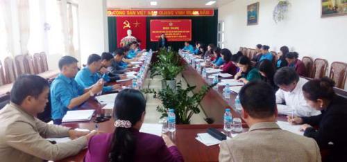 LĐLĐ tỉnh Cao Bằng đã tổ chức Hội nghị báo cáo kết quả Đại hội XII Công đoàn Việt Nam, Giao ban công tác Quý III và triển khai nhiệm vụ Quý IV năm 2018