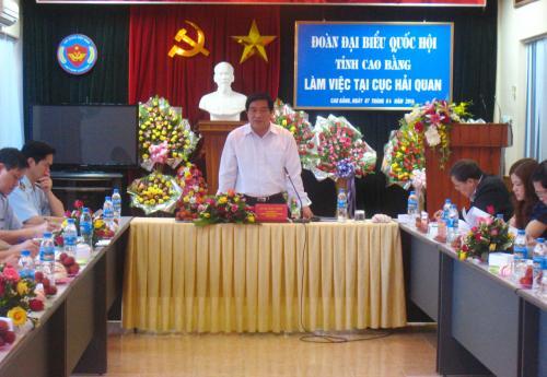 Đoàn ĐBQH tỉnh Giám sát thực hiện chính sách pháp luật trong lĩnh vực Hải quan