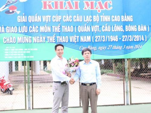 Khai mạc Giải quần vợt Cúp các câu lạc bộ tỉnh Cao Bằng