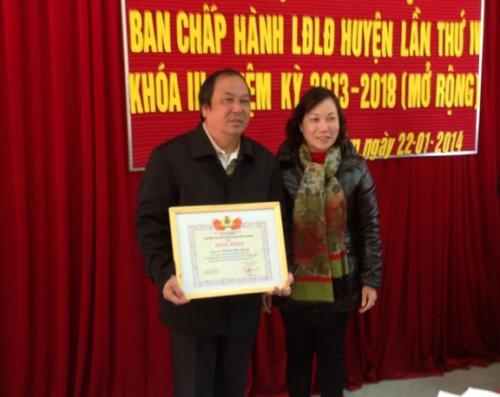 LĐLĐ huyện Bảo Lâm Vận động các loại quỹ được trên 900 triệu đồng