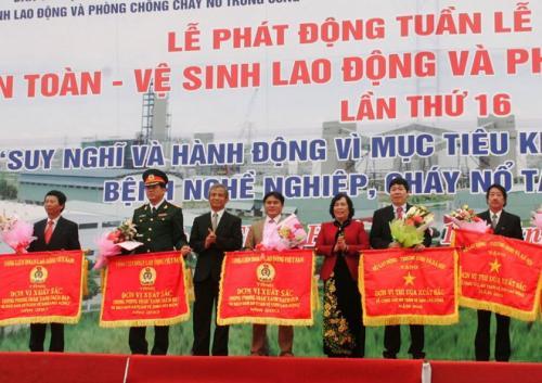 Phát động Tuần lễ quốc gia ATVSLĐ - PCCN lần thứ 16