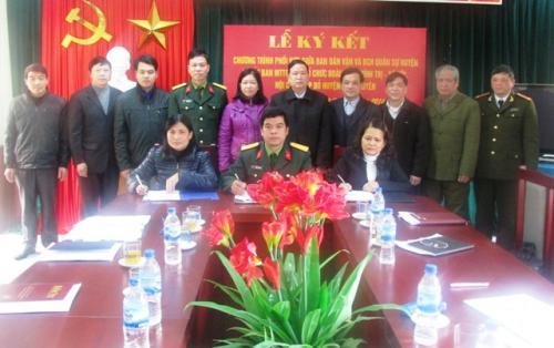 Quảng Uyên Ký kết Chương trình phối hợp hoạt động công tác Dân vận