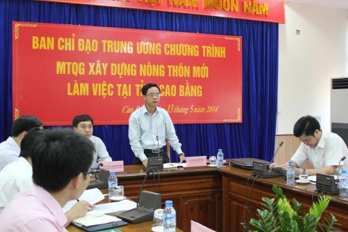 Ban chỉ đạo Trung ương Chương trình MTQGXDNTM làm việc tại Cao Bằng