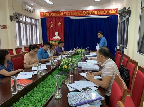 CĐCS Sở Tài nguyên và Môi trường Cao Bằng thực hiện kiểm tra việc chấp hành Điều lệ Công đoàn Việt Nam và công tác tài chính, tài sản công đoàn.